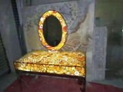 26x48 Real Agate Handmade Counter Top Mirror Bedroom Decor Art Furniture Gift