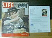 Julie Andrews Signed My Fair Lady Life Magazine With Full Jsa Letter