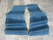 New Nos Ford Blue Twin Front Floor Mats D1fz-6213086-a 1960and039s 70and039s 61 63 65 67