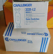 Lot Of 60 Electrical Challenger Quick-wire Ivory Single-pole Switches 15amp 120v