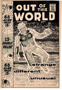 Steve Ditko 1958 Charlton Out Of This World Original Cover Proof Production Art