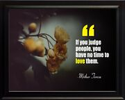 Mother Teresa If You Judge Poster Print Picture Or Framed Wall Art
