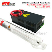 Mcwlaser 130w Co2 Laser Tube 165cm And Power Supply Air Express Engraver Cutter