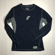New Orleans Zephyrs Florida Marlins Game Used Long Sleeve Nike Thermalite Large