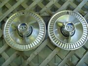 Two 1964 64 Ford Galaxie Xl 500 Hubcaps Wheel Covers Center Caps Fomoco Vintage
