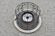 Large Industrial Antique Copper Light Fixture Mirror Reflector Cage Perfeclite