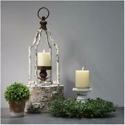 Glitzhome 16.5'' Farmhouse Iron Decorative Hanging Candle Lantern For Home Party