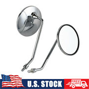 Pair Vintage Mirrors M8 For Honda Z50 St50/70 Chaly Ch50 Ch70 Cl70 Ct90 Cl90 S90