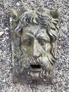 English Pub Tavern Greenman Face Weathered Cast Iron Vintage 16 Lb. Wall Plaque