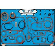 Drag Specialties - 9903-0101 - Gasket Seal And O-ring Display For Big Twin 4 An