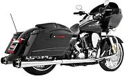 Freedom Performance Comp. Dual Exhaust Sys. 09-14 Harley Davidson Chrome W/ Blk