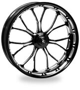 P.m. Front Forged Wheel 23x3.5 Platinum Heathen 2008-2013 Harley With Abs
