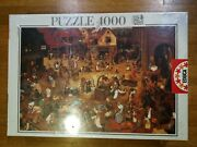 Puzzle Educa 4000 The Fight Between The Carnival And Lent Pieter Bruegel 10099