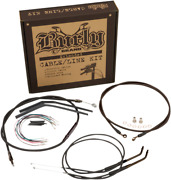 Burly Brand - B30-1151 - T-bar Cable And Brake Line Kit 14in. Harley Wide Glide
