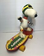 Vintage Snoopy Skate Board By Matchbox - 1980and039s Toy - Display 13andrdquoh X 16l X 8andrdquow