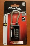 S77 Master Lock 1.31 In. 4-dial Combination Steel Luggage Lock