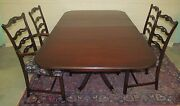 5 Piece Chippendale Antique Style Mahogany Dining Room Set Charak Furniture Co