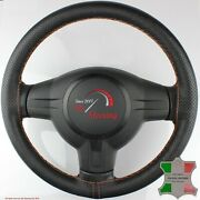 For Austin A55 Van 57-63 Black Perf Leather Steering Wheel Cover, Cooper 2 Stit