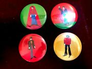 1968 Vintage Beatles Yellow Submarine Set Of 4 Button King Feature England