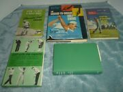 Lot Of 5 Rare Very Old Vintage Golfing Books , No Stains/ Odors, Very Good