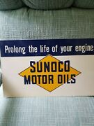Sun Oil Company...porcelain Sign...from Early 50.s..