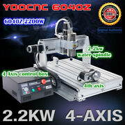 4axis Usb Mach3 6040 2.2kw Water Spindle Motor Cnc Router Engraving Machine 220v