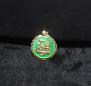 Unique.14k Gold Dragon And Translucent Jade Pendant Clearance Closeout Sale Buy
