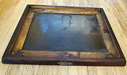Antique National Cash Register-wood And Brass Base With National Logo And Plaque