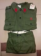 Vintage Old Albania Military Voluntary Forces Uniform-communsim Time-green-1981