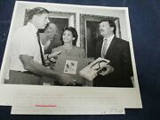 1992 Janice Wyatt With Sen Ed Burke And Kenneth Leary Vintage Glossy Press Photo