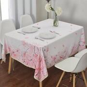 Shabby Chic French County Farm House Floral 60x84andshy-inch Tablecloth W/ Lace Trim