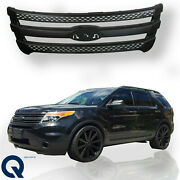 For 2011 2015 Ford Explorer Front Upper Bumper Grill Grille Snap On Trim Overlay