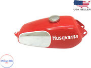 Husqvarna 1974 Cr 250 Wr 250 Mag Repro Red Painted Aluminum Tank + Cap  fit For