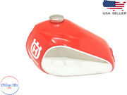 Husqvarna Fuel Petrol Chrome And Red Painted Steel Tank And Cap 1982 -1983 |fit For