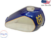Husqvarna Petrol Chrome Anddark Blue Painted Steel Tank And Cap 1982 -1983 |fit For