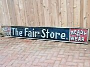 Antique Large Hand Painted Wood General Store Advertising Sign C.1880and039s