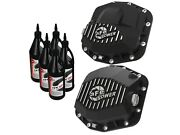 Afe Front/ Rear Differential Cover - Machined Fin W/ Gear Oil For Jeep 18-20
