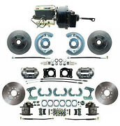 64-66 Ford Mustang Front And Rear Disc Brake Kit W/ M/c Booster And Prop Valve 8 9