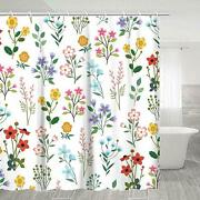 Nice Colorful Boho Shabby Chic Farmhouse Cute Waterproof Fabric Shower Curtain
