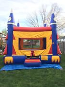 Used Bounce House Usa Rockets Moonwalk Moonbounce Inflatable 15andrsquo Commercial Size