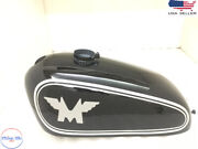 Norton P11 N15 Matchless G15g80cs Steel Scrambler Competition Black And Decal Tank