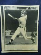 1985 George Brett Kc Royals Al Playoff 2nd Hr Mlb Vintage Wire Press Photo