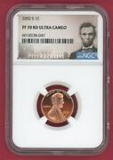 2002-s Lincoln Proof Penny Ngc Pf70 Ultra Cameo 1c -047