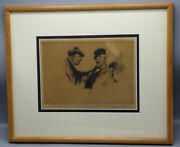 Gordon Hope Grand Two Men Arguing Limited Edition Lithograph Hand Signed