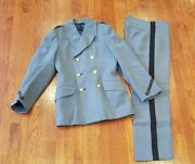 Vintage West Point Usma Cadet Short Double Breasted Pea Coat Jacket And Pants