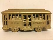 1920s Cast Iron Main Street Trolley With People Bank A.c. Williams