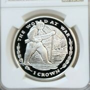 1999 Gibraltar Silver Crown Operation Heavywater Ngc Pf 70 Ultra Cameo Perfect