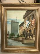 Original Oil On Canvas Painting Of Chicago By M.p. Elliott--framed And Signed