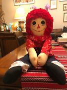 Immaculate Vintage Jumbo Large Andy Raggedy Ann Doll Andy 3 Feet Tall 38andrdquo