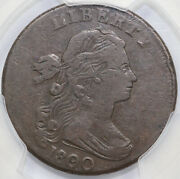 1800/79 1c S-194 Draped Bust Large Cent Pcgs Vf 25